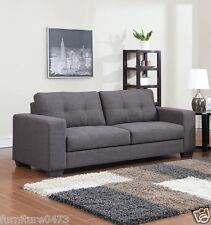 Black High Grade Fabric Material Recliner Reclining 2 Seater Sofa Novella