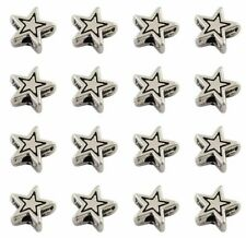 50 STAR Spacers Beads - Antique Silver Stars LF NF CF - Small Stars Beads