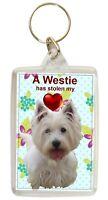 West Highland Terrier Keyring Westie Key Ring Dog Gift Xmas Mothers Day Gift