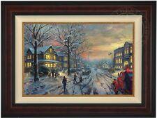 "Thomas Kinkade A Christmas Story 18"" x 27"" LE Canvas G/P (Burl Frame)"