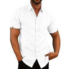 Mikkar Mens T-Shirt Tops Blouse Casual Button O Neck Pullover Short Sleeve Sale