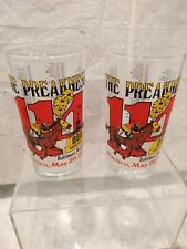 Two (2) Pimlico 114 Preakness Glass Tumblers 1989...Baltimore MD Black Eye Susan