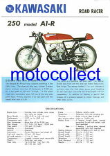 KAWASAKI 250 A1-R...Vintage Poster Print...Free Postage Worldwide