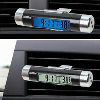 Auto Car Dashboard Digital LCD Blue Backlight Thermometer Time Clock Calendar