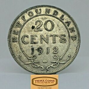 1912 NewFoundLand Silver 20 Cents, Free Shipping   -  #C20062NQ