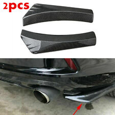 2Pcs Car Accessories Auto Bumper Spoiler Rear Lip Splitter Diffuser Protector