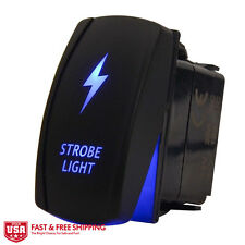 MICTUNING Laser Rocker Switch Blue Strobe LED LIGHT On-Off 12V 20A Universal