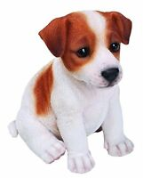 Jack Russell Terrier Puppy Dog - Life Like Figurine Statue Home / Garden NEW