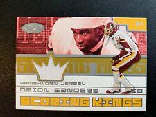 Deion Sanders 2001 Fleer Hot Prospects Scoring Kings Jersey Patch