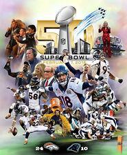 Beautiful SUPER BOWL 50 DENVER DOMINATION Broncos Champs Premium Poster Print