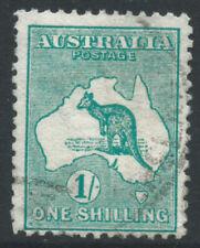 More details for australia 1913 sg11 1/- emerald - watermark 2 - die ii - fine used. cat £28