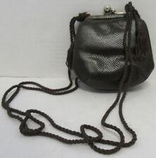 JUDITH LEIBER Genuine Clutch Brown Snakeskin Shoulder Bag