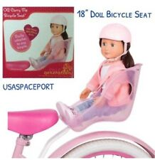 18-in Doll Pink BIKE SEAT +HELMET Carrier for American Girl Boy Bicycle GIFT Set