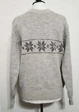 VTG Norsewear Pure Virgin Wool Fisherman Sweater Made in New Zealand, Size L