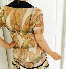 ZARA WOMAN DESIGNER  FLORAL PRINT SILK STUNNING DRESS SZ M