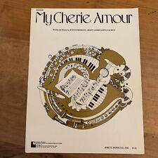 Vtg My Cherie Amour Sheet Music Stevie Wonder Cosby Moy 1970