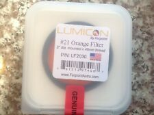 Lumicon #21 2 inch orange eyepiece filter, brand new in plastic storage case
