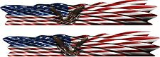 """Eagle USA FLAG Boat Car Truck Trailer Motorcycle Graphics Decals Stickers 2- 80"""""""