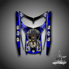 SKI-DOO REV MXZ SNOWMOBILE WRAP GRAPHICS HOOD DECAL 03-07 COWBOY OUTLAW BLUE