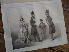 RARE - PHILIPON LITHOGRAPHIE  LE CHARIVARI N° 59 1833 TRAVIES CHEMIN DE FER