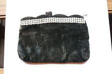 Old or Vintage? Black & Rhinestones Handbag Clutch Purse Velvet Womens Accessory