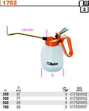 BETA TOOLS 1752/300 PLASTIC PRESSURE OIL CANS RIGID SPOUTS