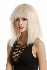 Perruque Femmes Carnaval lisses pony capot volumineuse 70er 80er sci-fi Android blonde