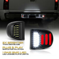18 LED License Plate Light RED OLED Neon Tube Lamp For Chevy Silverado Avalanche