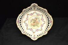 Antique Von Schierholz Plaue Porcelain Basket with Cherubs