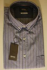Gestreifte BRAX Herren-Freizeithemden & -Shirts mit Button-Down-Kragen
