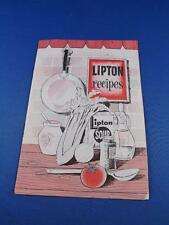 LIPTON RECIPES COOK BOOKLET SOUPS TITLE CONTEST ENTRY COUPONS