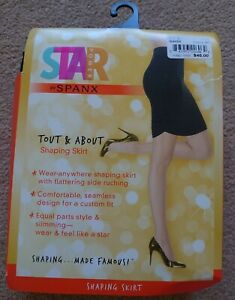 """Star Power Spanx Tout & About Shaping Slimming Black Size L Skirt W 33.5 - 35.5"""""""