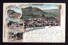 109312 AK Niedermarsberg Marsberg 1898 Litho Bahnhof Nestrasse St. Johannis Hosp