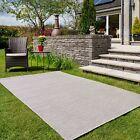 Flatweave Outdoor Rugs Washable Plastic Runner Mats Garden Summer Light Grey Mat