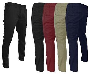 Pantaloni uomo slim fit primavera estate tasche america blu nero beige rosso