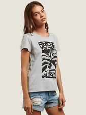 2018 NWT WOMENS VOLCOM EASY BABE RAD 2 TEE $22 S heather grey t-shirt graphic