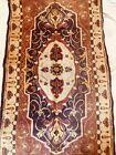 "Antique Turkish 40x20"" Wool Rug Carpet Tapestry"