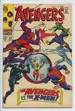 1968 MARVEL THE AVENGERS #53 X-MEN APPEARANCE VF-   S1