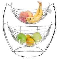 Fruit Holder Banana Tree Bowl Basket Kitchen Storage Rack Vegetable Metal Stand