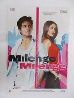 MILENGE MILENGE 2010 SAHID KAREENA  Rare Poster Bollywood Film India Hindi
