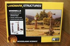 WOODLAND SCENICS LANDMARK STRUCTURES WINDMILLS N SCALE BUILDING KIT