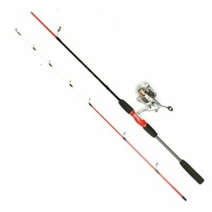 Professional Carbon 2 sections Fishing Rod Travel 1.8m/5.9ft Spinning Reel