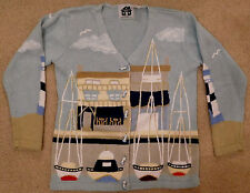 """Storybook Knits """"Boats at the Dock"""" Cardigan Sweater - BRAND NEW"""