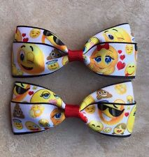 Emoji Hair Bows with Alligator Clips #2