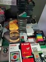 Lot Of 25 Pre-Recorded VHS Video Cassettes VCR Tapes Sold As Used Blanks Vintage