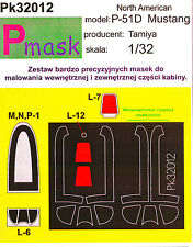 P-51 D MUSTANG PAINTING MASK TO TAMIYA KIT #32012 1/32 PMASK