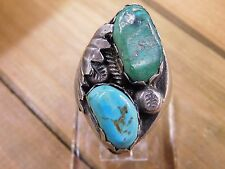 Sterling Silver Turquoise Men's Ring Size 12.5