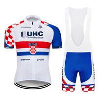 Men Bike Cycling Clothing Set Sports Quick Dry Jersey Bib Shorts Kits Shirt Pad