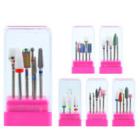 7Pcs/Set Nail Drill Bits Grinding Remove UV Gel Nail Mixed Size Nail Art Tools