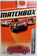 Matchbox VOLVO P1800 S sports car MOC Red 17/100  Long Card